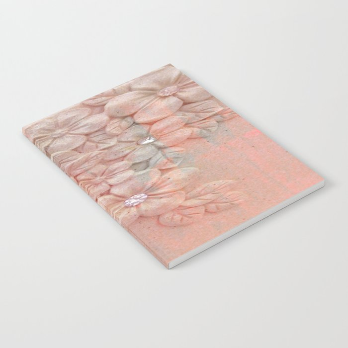 Painterly Floral Gem Abstract Notebook