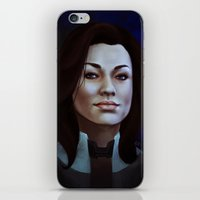 nan lawson iPhone & iPod Skins featuring Mass Effect: Miranda Lawson by Ruthie Hammerschlag