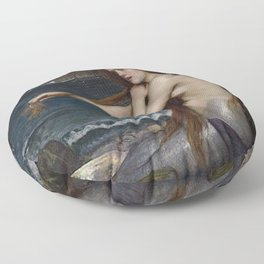 A MERMAID - WATERHOUSE Floor Pillow