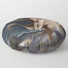 A MERMAID - WATERHOUSE Floor Pillow