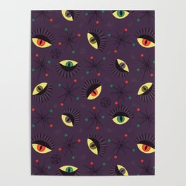 Reptile witch eyes pattern Poster