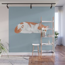Ginger the cat Wall Mural