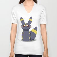 umbreon V-neck T-shirts featuring Evolution Bobbles - Umbreon by creativeesc