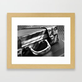 retro business case Framed Art Print