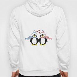 Penguin love Romantic Couple Present Hoody