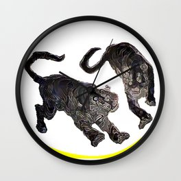 Two Tigers jGibney The MUSEUM Society6 Gifts Wall Clock