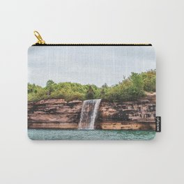 Water Fall at Pictured Rocks, Michigan Carry-All Pouch