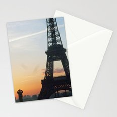 Sunrise with Eiffel Tower Stationery Cards
