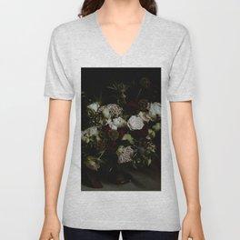 Floral Bouquet - Rembrandt Style Unisex V-Neck