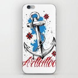 Anchor Arttattoo iPhone Skin
