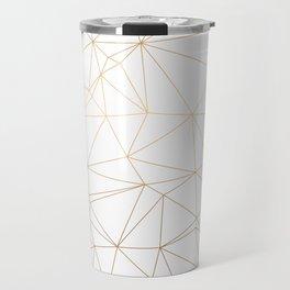 Geometric Gold Minimalist Design Travel Mug