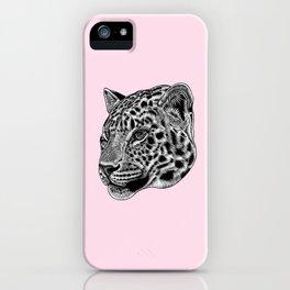 Amur leopard cub - pink - big cat iPhone Case