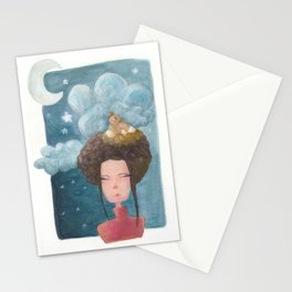 Birds on the brain Stationery Cards