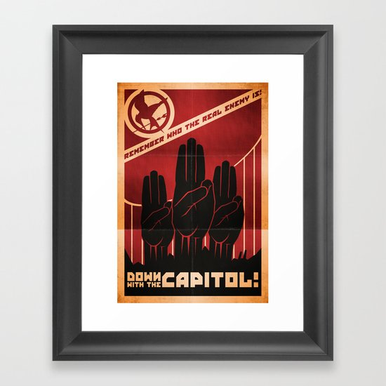 Down With The Capitol - Propaganda Framed Art Print