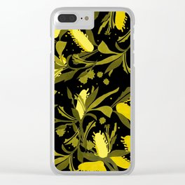 Melaleuca back & yellow Clear iPhone Case