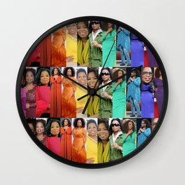Oprah Spectrum collage Wall Clock