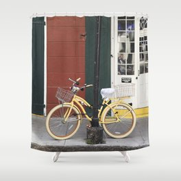 New Orleans Bicycle - Orleans Street Shower Curtain