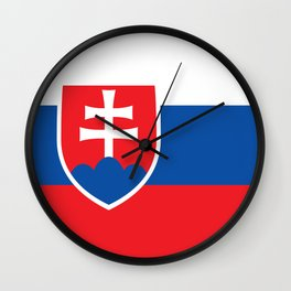 Slovakian Flag - High Quality Image Wall Clock