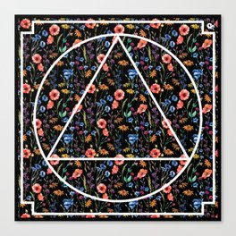Tringle in the flowers Canvas Print
