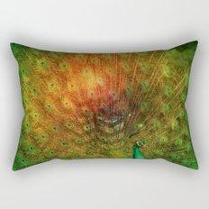 Peacock in Green Rectangular Pillow
