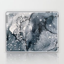 Icy Payne's Grey Abstract Bubble / Snow Painting Laptop & iPad Skin