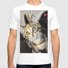 Look at me  MEDIUM White Mens Fitted Tee