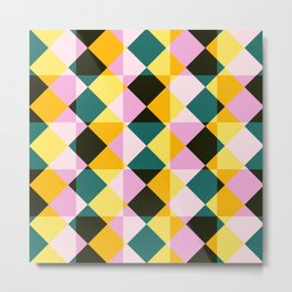 Onocentaur - Colorful Decorative Abstract Art Pattern Metal Print
