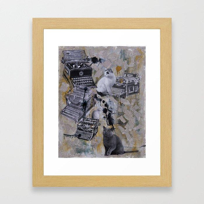 Copy Cats Framed Art Print