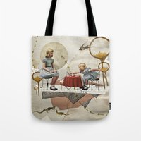 tea Tote Bags featuring tea time by Heather Landis