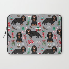 Cavalier King Charles Spaniel black and tan christmas dog gifts pet friendly Laptop Sleeve