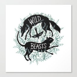 We Are Wild Beasts Canvas Print
