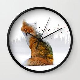 Wild I Shall Stay | Fox Wall Clock