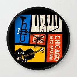 Jazz Festival   Bauhaus V Wall Clock
