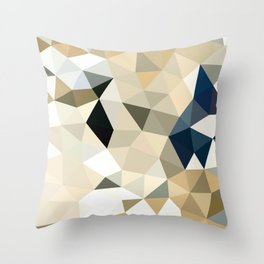 Neutral Tris Throw Pillow