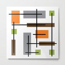 Mid Century Modern Cubicle Art Metal Print