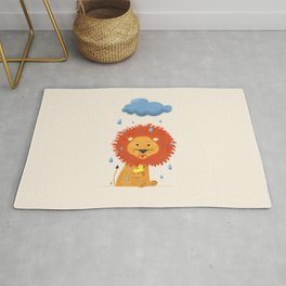 Little lion with a duck Rug