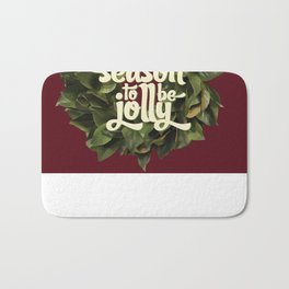 Tis the season to be jolly - holiday quote - christmas - instant download - seasonal - wall decor -  Bath Mat
