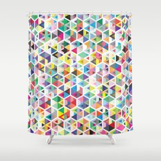 Cuben Colour Craze Shower Curtain