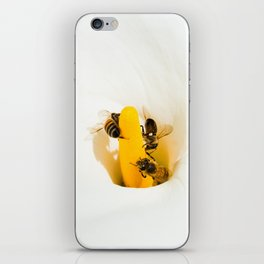 Calla Lily With Bees iPhone Skin