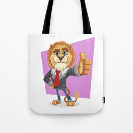 Classy Old Lion Tote Bag