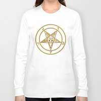 baphomet Long Sleeve T-shirts featuring Courting Baphomet by Framed In Blood Art
