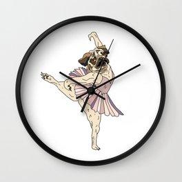 Dog Ballerina Tutu - Pug Wall Clock