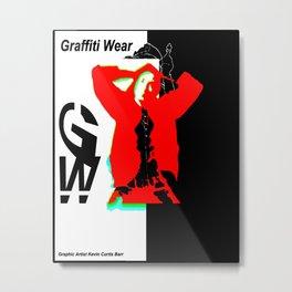 GRAFFITI WEAR...times red Metal Print