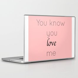 Gossip Girl: You know you love me - tvshow Laptop & iPad Skin