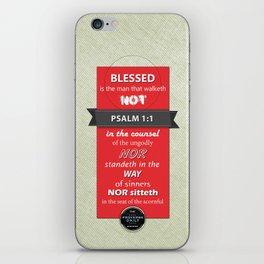 Psalm 1:1 iPhone Skin