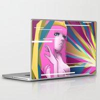 princess bubblegum Laptop & iPad Skins featuring Princess Bubblegum by Kimball Gray