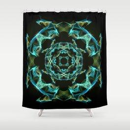 Silk pattern, Copper Shower Curtain