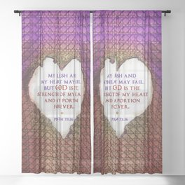 The Strength of My Heart Sheer Curtain