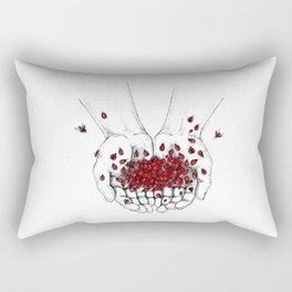 Palms full of ladybugs Rectangular Pillow
