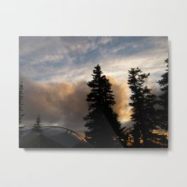 Camping on the side of Mt. Hood ~7000 ft. Metal Print
